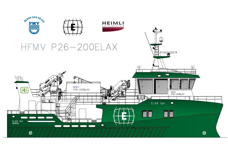 Servicebåt AS har inngått ny kontrakt for bygging av ett nødslaktefartøy av design HeimliFMV P26-200