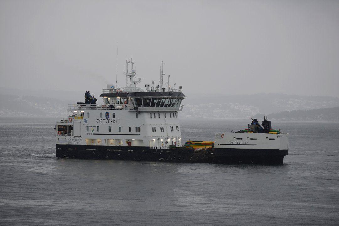 Kystverkets nye hybridfartøy OV RYVINGEN overlevert fra Fitjar